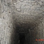 After a chimney fire the tar in this inglnook chimney was over 5 inches thick