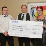 Guild charity raffle 2014. Susan Ross receives cheque for Carbon Monoxide awareness charity CO Gas Saftey