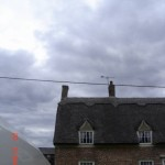 Leaning chimney stack, dangerous stack